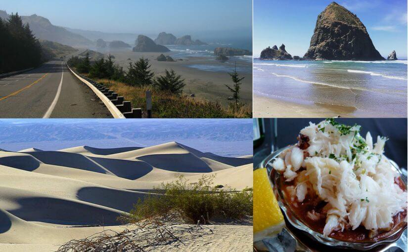 oregon coast haystack rock sand dunes dungeness crab