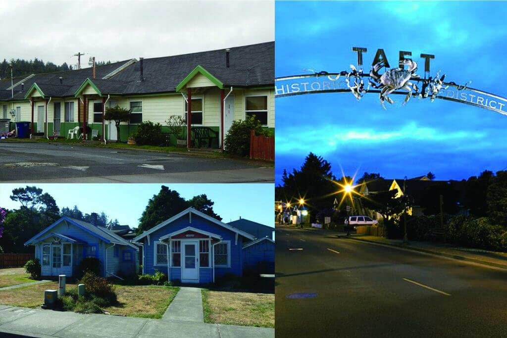 lincoln city taft district cottages and archway